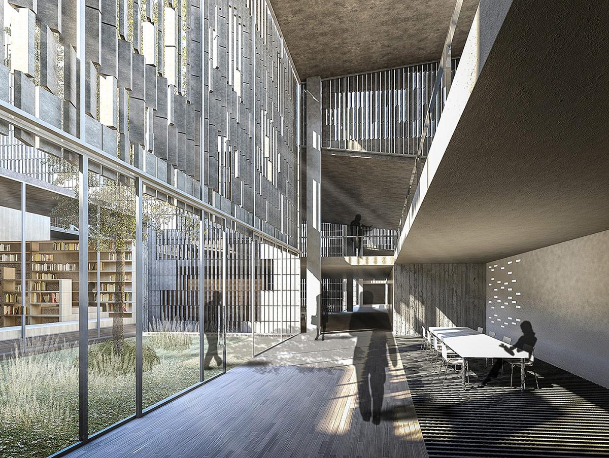 Biblioteca en antiguos edificios industriales arquiayuda for Biblioteca arquitectura
