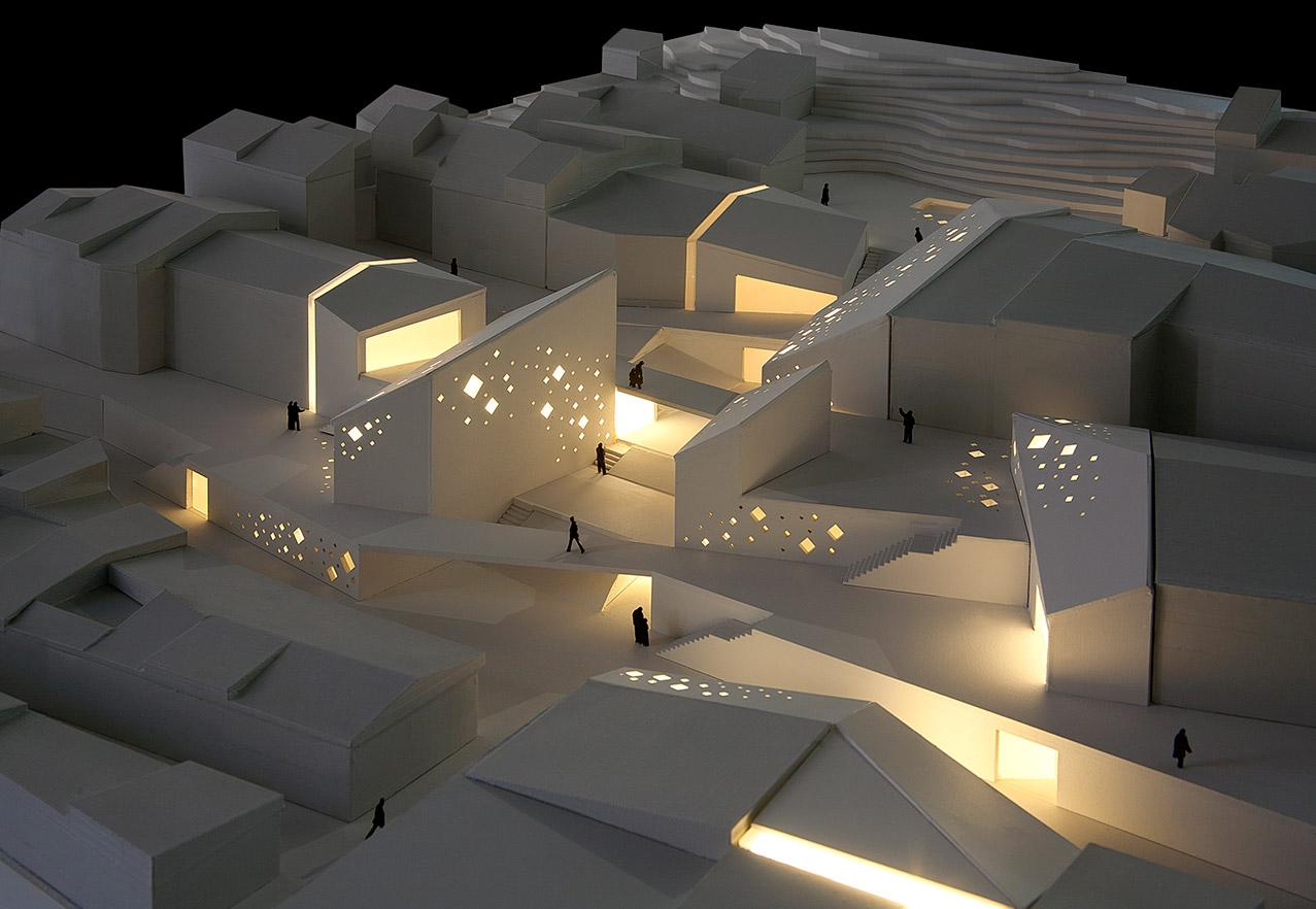 Maqueta arquitectura centro cultural arquiayuda ayuda for Arquitectura carrera profesional