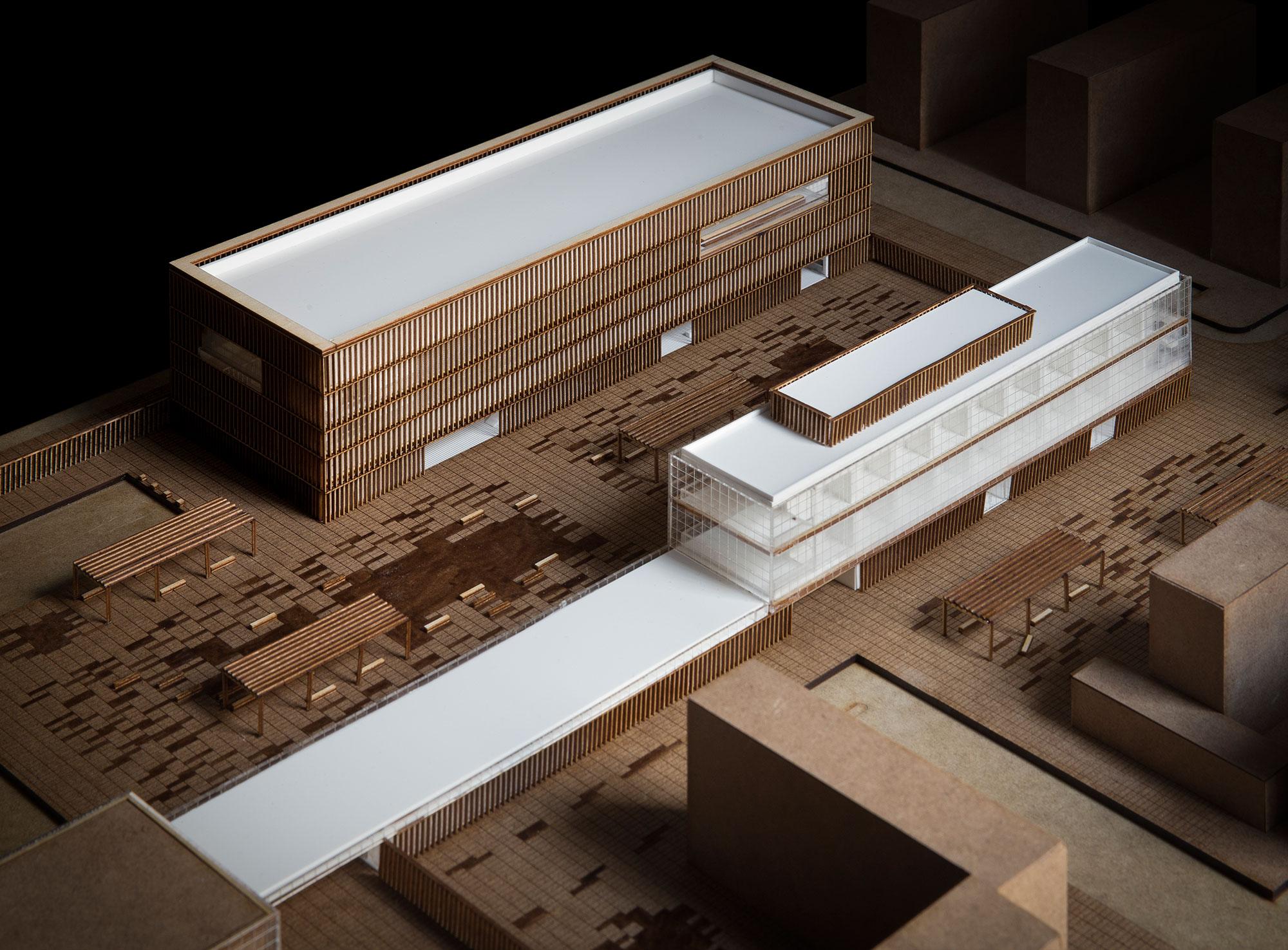 Maqueta para trabajo final de grado de zaragoza for Arquitectura carrera profesional