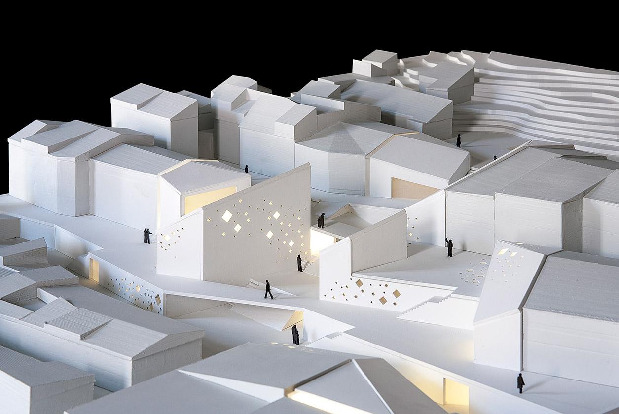 Maqueta arquitectura centro cultural arquiayuda ayuda for Grado superior arquitectura